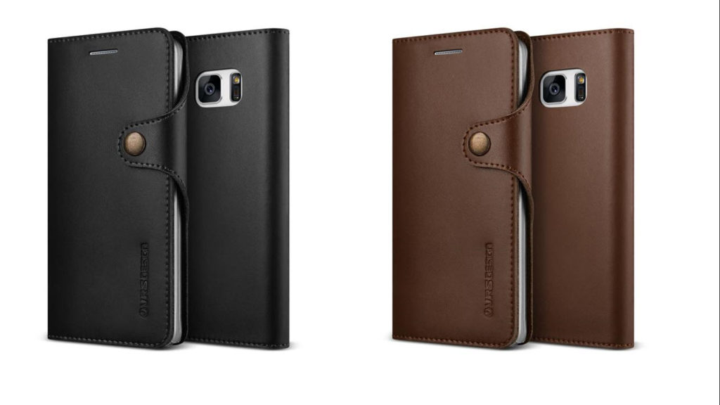 Galaxy Note 7 Case, VRS Design Native Diary Leather Wallet Cases