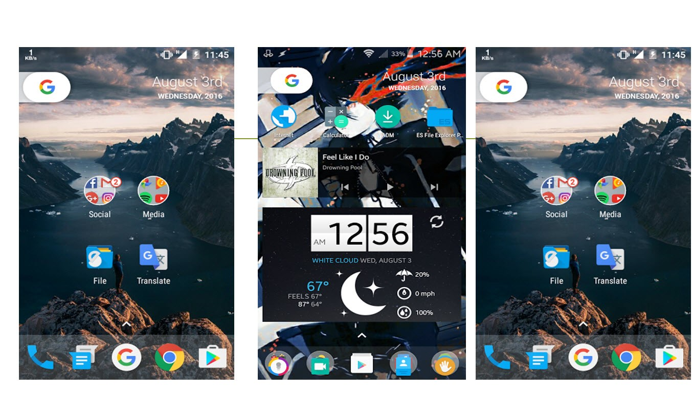 Google New Nexus Android 7.0 Nougat Launcher Preview