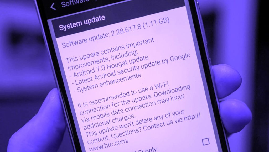 HTC 10 Android Nougat 7.0 update in US