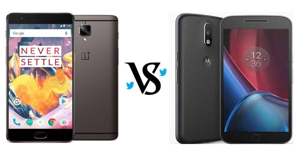 OnePlus 3T vs Motorola Moto G4 Plus