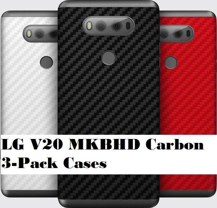 LG V20 MKBHD Carbon 3-Pack Cases