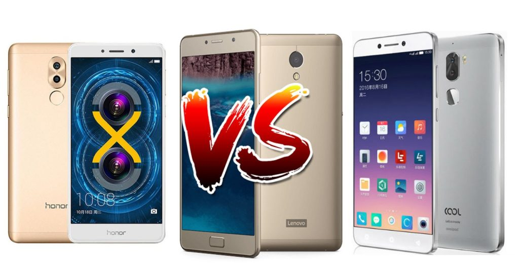 Honor 6X vs Coolpad Cool 1 vs Lenovo P2