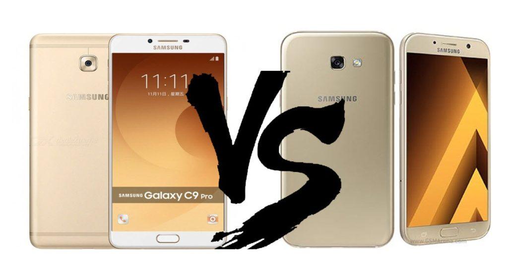 Samsung Galaxy A7 (2017) vs Galaxy C9 Pro