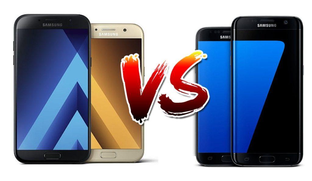 Samsung Galaxy A7 (2017) vs Samsung Galaxy S7