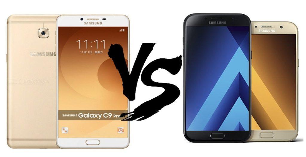Samsung Galaxy C9 Pro vs Galaxy A7 2017