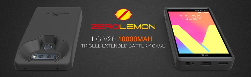 cheap for discount aaf8b e8567 LG V20 ZeroLemon 10,000mAh Battery Case - Gadgets Finder