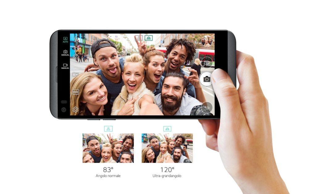 LG Q8 front camera
