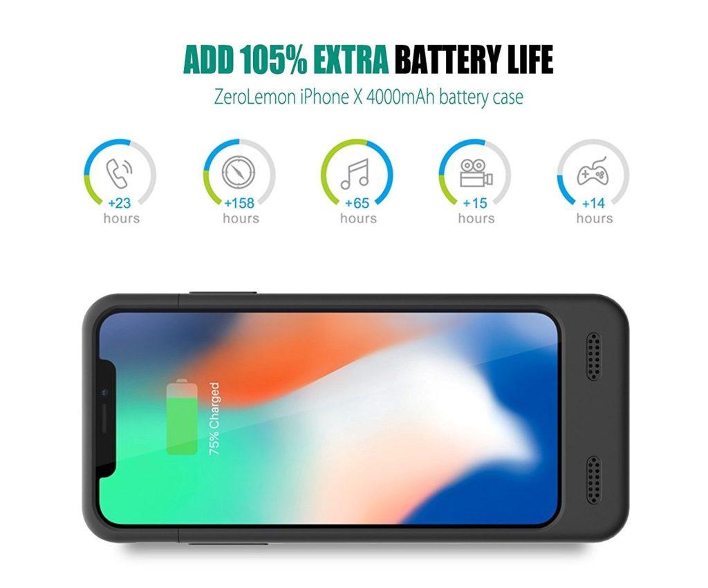 iPhone X 4000mAh Battery Case