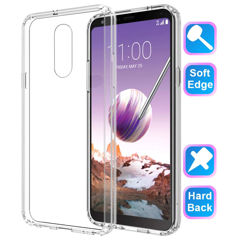 Clear Transparent Soft TPU Back Cover Case for Stylo 5