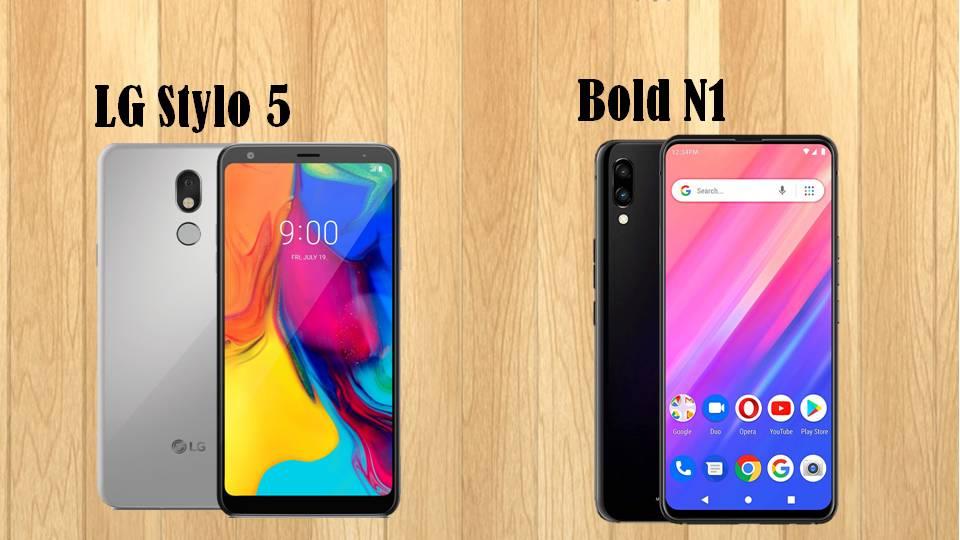 BLU Bold N1 vs LG Stylo5